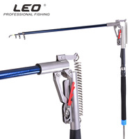 LEO Nw spring sea pole automatically Double high sensitivity adjustment spring rod Fishing Tackle Telescopic Fishing rod