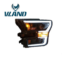 VLAND Factory For Car Head Lamp For Ford F150 Headlight 2015 2016 2017 F150 LED Headlight DRL H7 Xenon Lamp Plug And Play Design