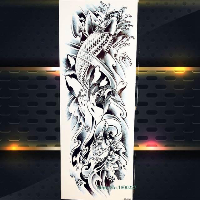 Online Shop Freedom Carp Fish Mechanical Arm Waterproof Henna Tattoo