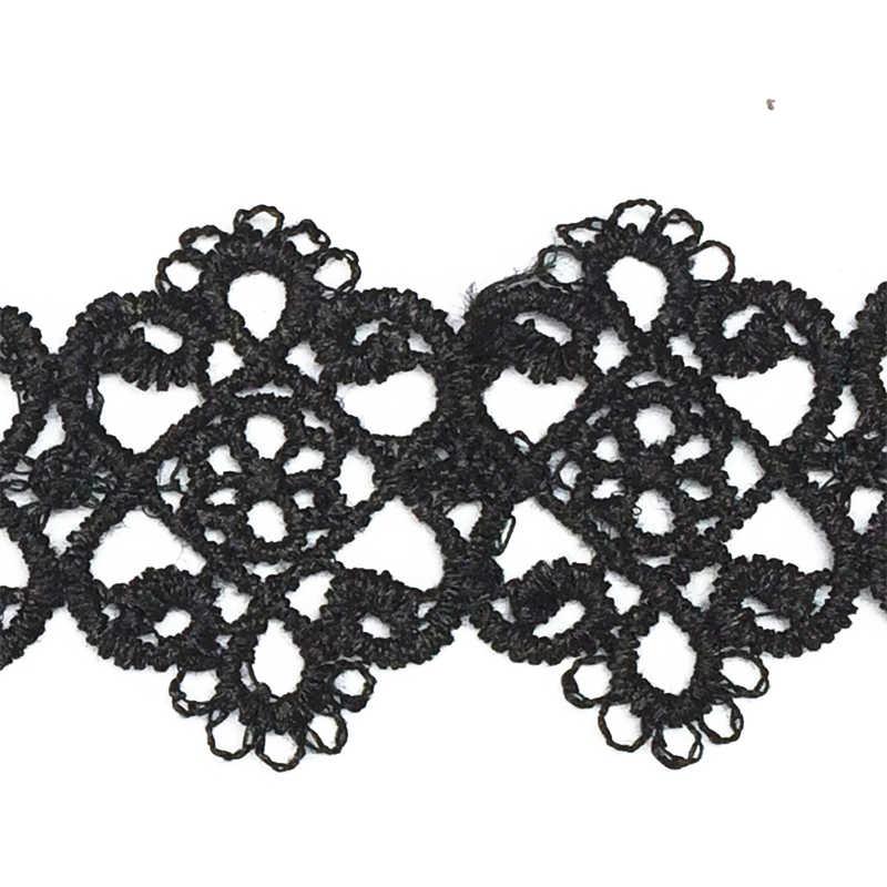 אופנה הצהרת Vintage שרשראות Neo-גותי תחרה חמישה עלים פרח שרשראות שווא צווארון לולאות שרשראות לנשים תכשיטים