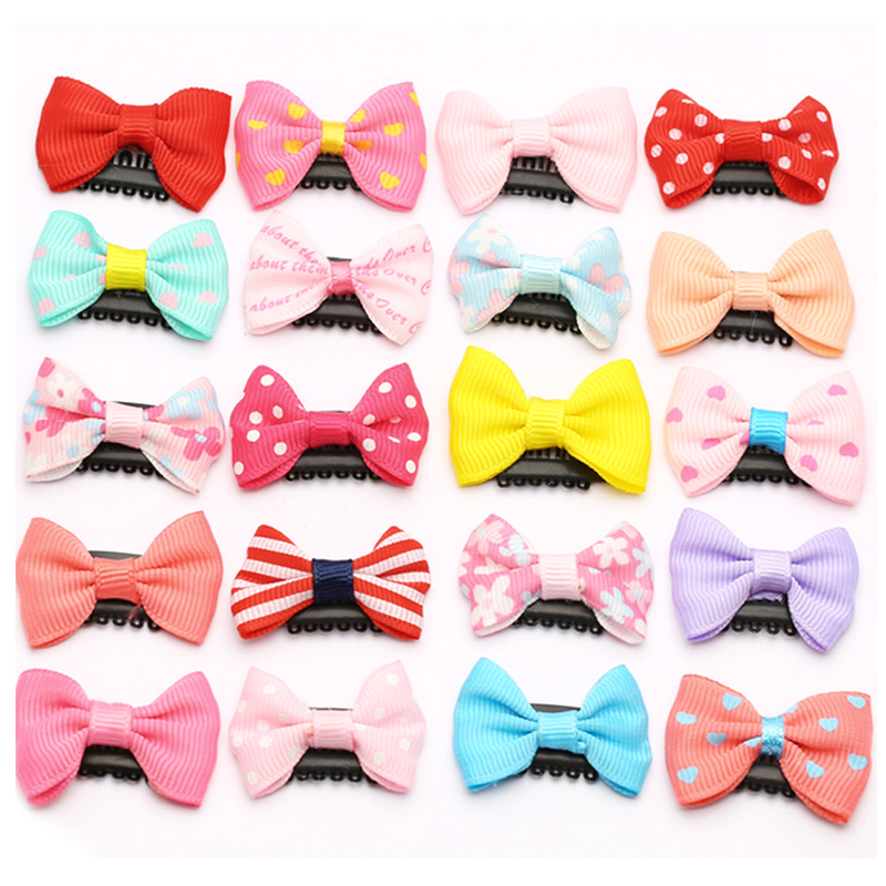 10Pcs/Pack Newborn Baby Bowknot Mini Hairpin Fashion Girls Lovely BB Clips Bowknot Kid Hair Accessories Children Safe Hair Clips