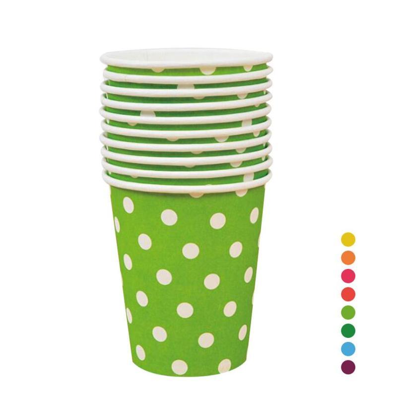Colorido desechable Polka Dot vasos de papel Drinking Cup Party - Para fiestas y celebraciones