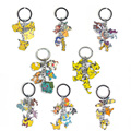 13 Styles New Pokemon Keychain Cute Cartoon Pikachu Bulbasaur Eevee Mega Charizard Keychain Keyring Metal Pendant