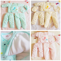 IMSHIE New hot seeling 5 PCS Baby Cotton Thicker Clothing Children Coat for Outdoors warm suits for baby care clothing