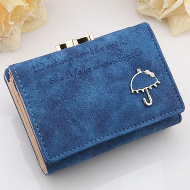 New Women Short Wallets Ladies Bags Leather Button Clutch Purse Money Bag Card Holder 9 Colors Wallet For Girls Gifts #913
