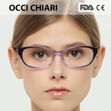 a6b6ce16a183 OCCI CHIARI Women Cat Eyes Style Eyeglasses Prescription Wine Red Myopia  Spectacle Student Fashion Glasses Frame Female W-CERICA