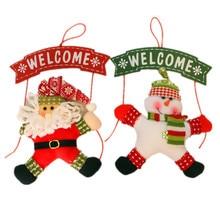 Santa Claus Snowman Tree Door Christmas Decoration For Home Ornament Decor Hanging Pendant Christmas