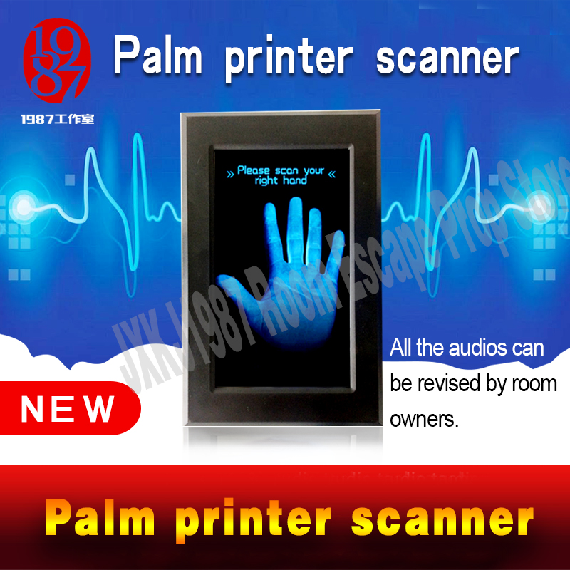 Escape room escape props Palm print scanner prop scan palm printer to unlock smart touching screen prop from JXKJ1987 adventure palm print cami dress