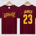 LeBron James Camisetas de Algodón de Manga Corta Del O-cuello Camisetas para hombre moda Hip Hop Camiseta de los hombres Tops de Marca camiseta homme