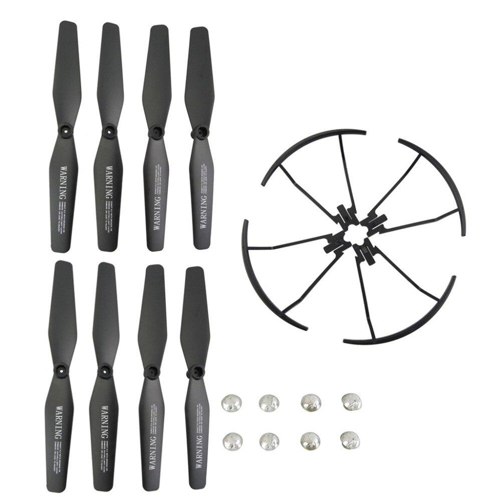 VISUO XS809 XS809S XS809W XS809HW 8 PZ Elica + 4 PZ Coperchio di Protezione A quattro assi Drone Aereo Lama Protector nero