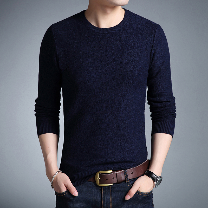 2018 New Arrival Sueter Hombre Sweater Men Casual O-neck Solid Mens Sweater Long Sleeve  ...