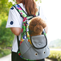 New Pet Backpack Cat Dog Bags Small Animal Pet Sling Front Carrier Mesh Comfort Head out Travel Breathable Pet Backpack