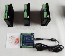 ЧПУ mach3 usb 3 Оси Комплект, ST-M5045 3 Оси Драйвер заменить M542, 2M542 + mach3 4 Ось USB ЧПУ Шагового Двигателя Контроллер карты 100 КГц