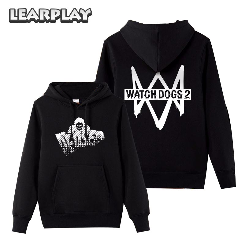 Watch Dogs 2 Hoodies Dedsec Coat Men's Winter hoodie&Sweatshirts Long Sleeve Casual Cotton Tops Halloween Christmas Gift