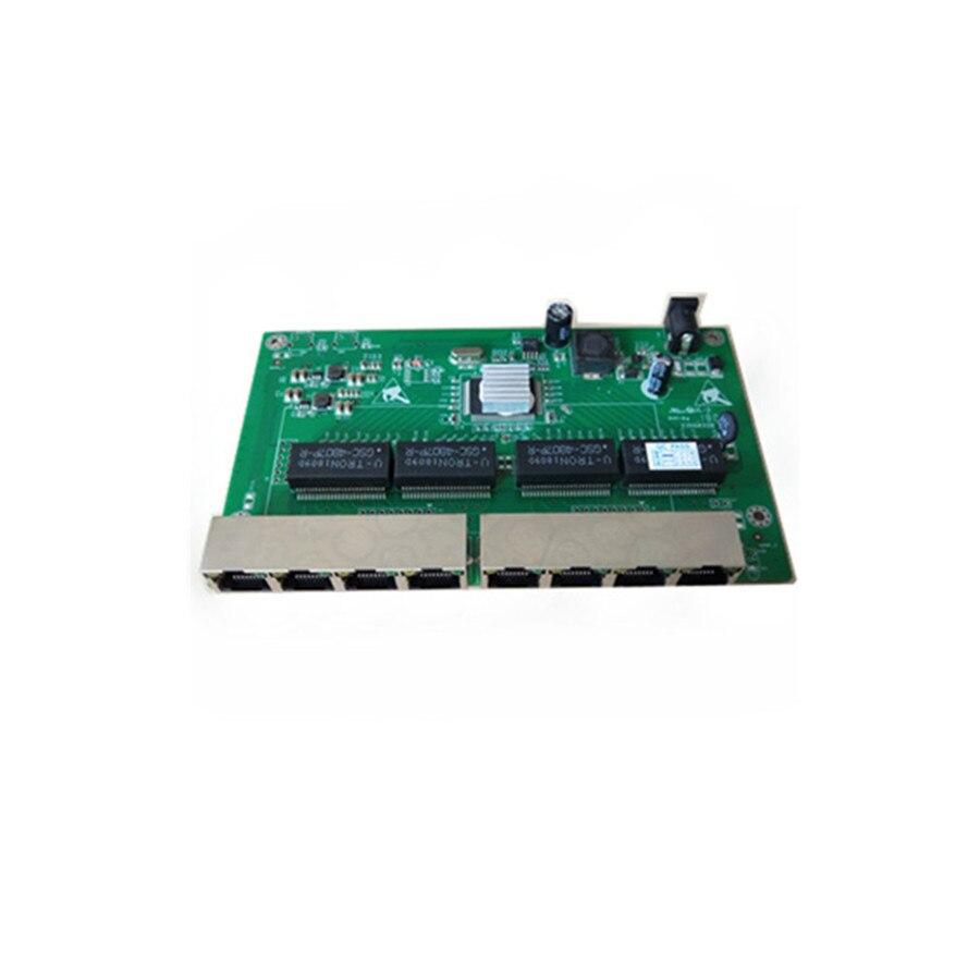 Купить с кэшбэком 8 port 10/100/1000M Ethernet unmanaged reverse poe switch  7 Port PD Switch 24v reverse poe switch of pcba board