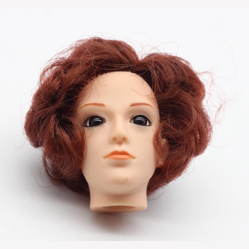 1pcs Brown Hair 3d Eyes Boyfriend Prince Doll Head For