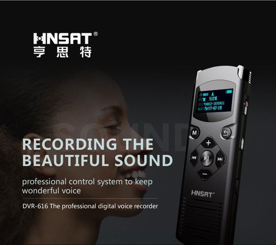 Enregistreur vocal Audio numérique professionnel activé par la voix stylo USB 8 GB double Microphone enregistrement stéréo une des opérations principales