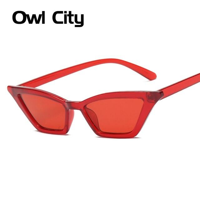 Vintage Sunglasses Women Cat Eye Luxury Brand Designer Sun Glasses Retro Small Red ladies Sunglass Black Eyewear oculos 2