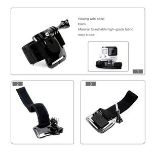 Image 3 - SnowHu for GoPro Hero 9 8 7 6 5 4 3 Accessories Black Elastic Adjustable Wrist Strap Mount for Go Pro Hero 8 SJ4000 GP93