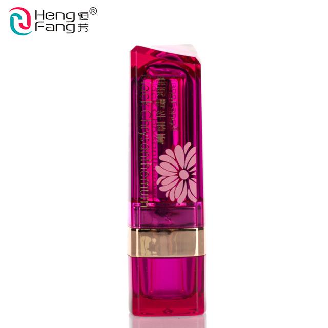 Black Chrysanthemum Lipstick 3 Fruit Flavors Temperature changed Lip Balm Moisturizer Lips 3.5g Makeup Brand HengFang #H9266