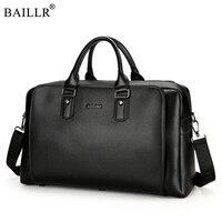 2018 New Fashion PU Leather Travel Bags Business Men Luggage bag large Leather duffel bag Men Weekend bag Overnight Tote Handbag