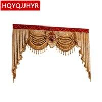Valência personalizado Usado para cortinas de luxo no topo (Comprar VALANCE link dedicado/Não incluindo cortina de Pano e tule)