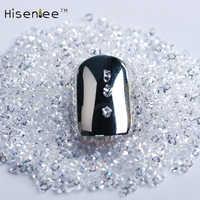 New 1.1 milímetros 2880pcs Crystal Clear Prego Strass Micro Strass Talão 3D Micro DIY Decoração de Unhas Manicure