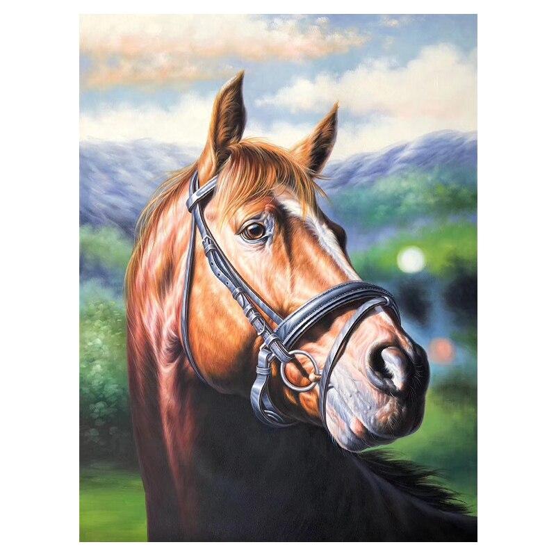 100% Ручная роспись Современная голова лошади художественная живопись на холсте настенное Искусство украшение картины картина для жилая ком