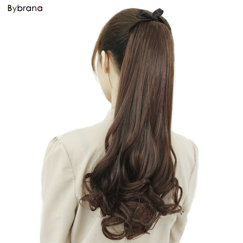 100% Quality Bybrana Long Ponytail Natural Synthetic Curly Bjd Wigs Fake Hair Tails Heat Resistant Ponytails Fault Hair Pieces Hairstyle