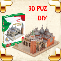 New Arrival Gift ST.Mark's Square 3D Puzzle Model Building DIY Construction Famous Collection Toy Adult Education Learning Game