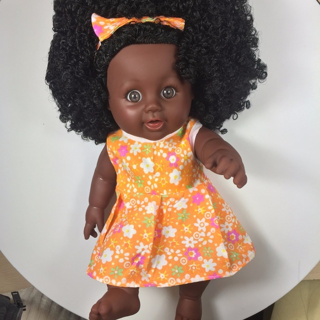 Wholesale Black Doll Soft Child Christmas Gifts Doll Want Safety