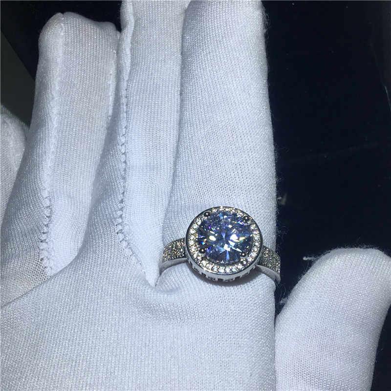 Choucong ขนาดใหญ่แหวน 925 เงินสเตอร์ลิง AAAAA CZ งานแต่งงานแหวนสำหรับเจ้าสาวของขวัญเครื่องประดับนิ้วมือ
