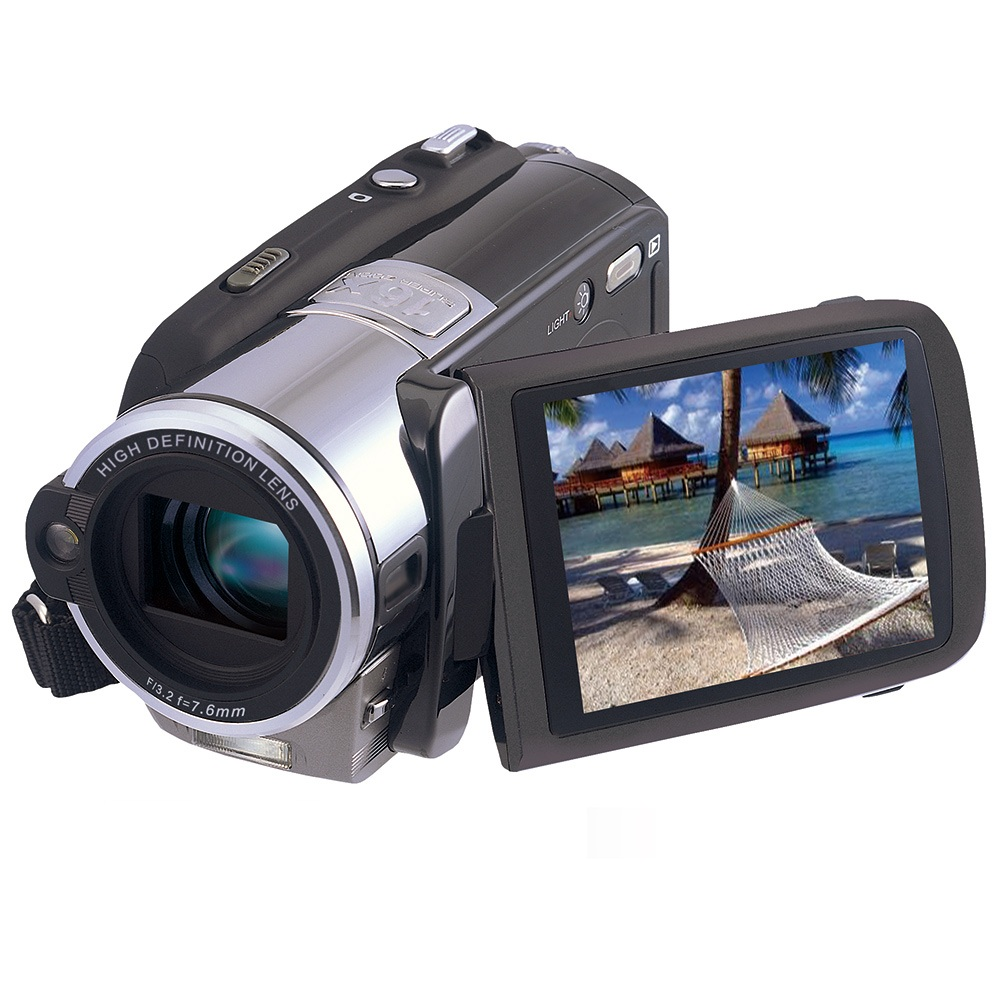 MARVIE HDV 308 HD 20 MP Digital Video Camcorder Strong Strobe Flash Camera DV 30Touch Screen 16X Zoom MP3 Playback In Point Shoot Cameras From