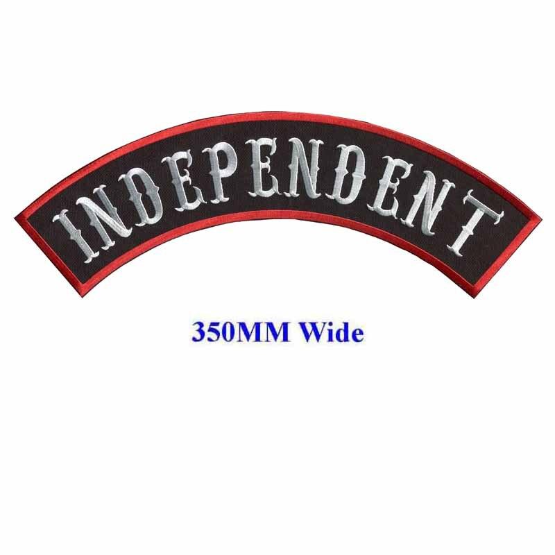 73101e12086ef Независимый Мотоцикл Байкер нашивки Вышитые утюг на патчи для полной задней  куртки одежда вышивка рокер нашивки
