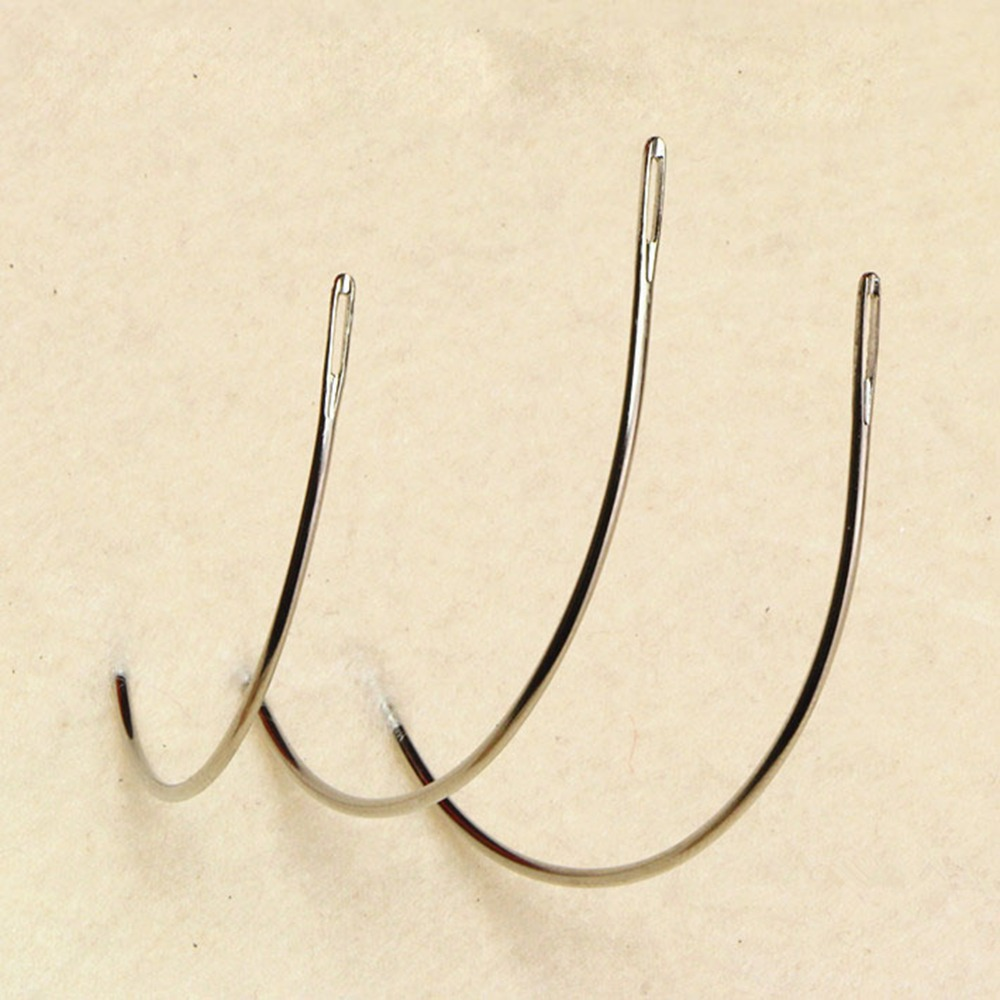 12pcs C TYPE Curved Needles Hair Weaving Thread/Sewing For Extension Tool Ordinary Small Packet 2.5/3.5 inch choose