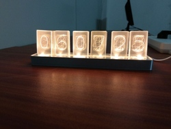 Cheapest 6 Bit LED Glow Digital Clock Nixie Tube Clock Kit DIY Electronic Retro Desk Clock 5V Micro USB Powered