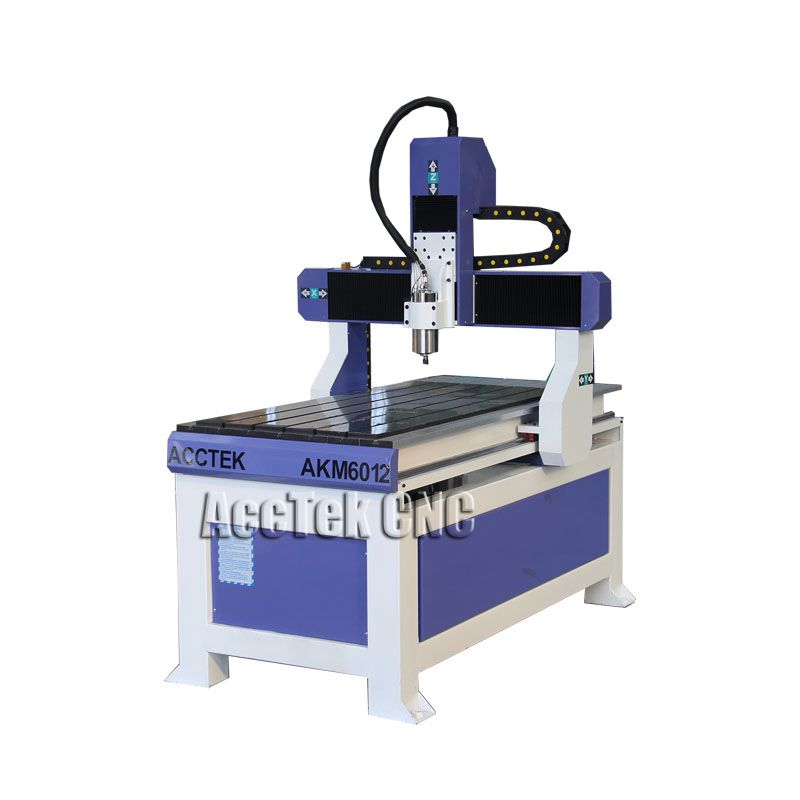 ACCTEK Made In China Cnc Router Engraver Drilling And Milling Machine / 3 Axis Cnc Router 6012
