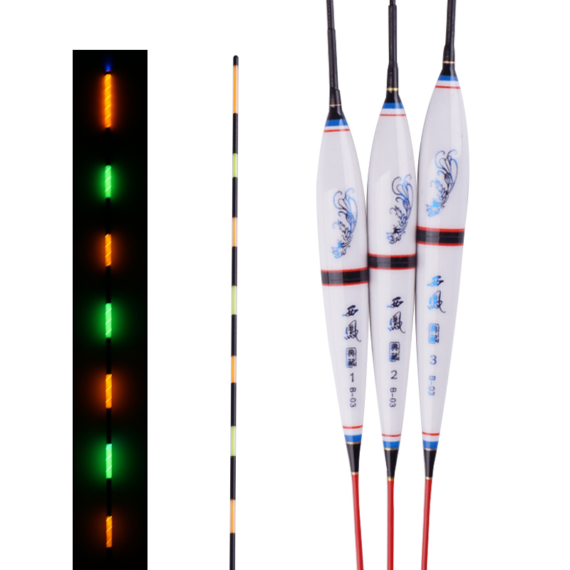 3pcs/lot Night Fishing Floats River Led Luminous Fishing Floats Fishing Accessory Bobber Stopper Fishing Lights Without Battery ...