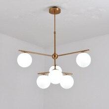Modern Glass Led Lamp Design Chandelier Decor Home Lighting Living Room Kitchen Foyer Loft Light Fixtures Copper Lustre G9