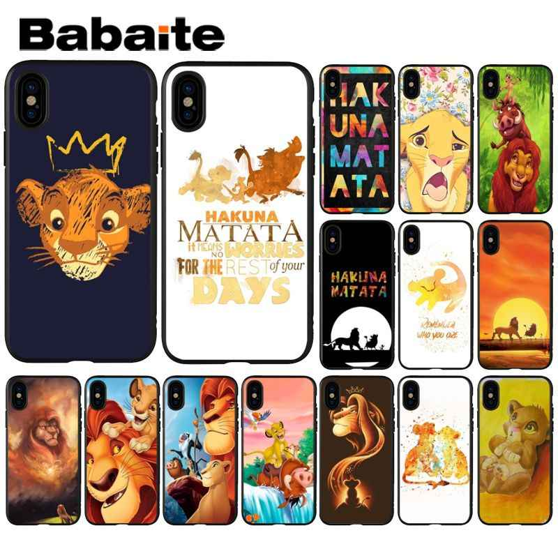 Babaite The Lion King Luxury Unique Design Phone Cover for Apple iPhone 8 7 6 6S Plus X XS MAX 5 5S SE XR Cellphones