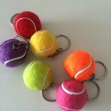 30 шт./лот) Смола мини теннис 3 см мяч брелок Металлический брелок на подарок теннис Memento для тенниса Клубное оформление
