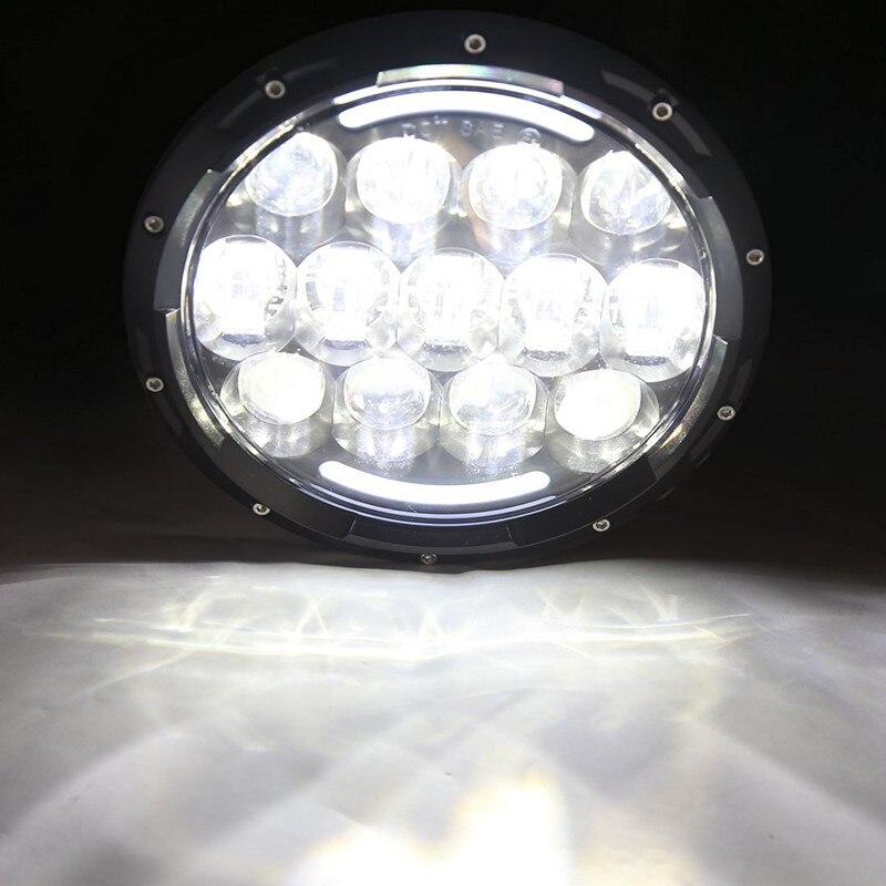 105 W LED Koplampen voor Jeep JK 7 INCH Ronde led Hoge/Dimlicht Hoofd Lamp LandRover Defender 90 & 110 - 6