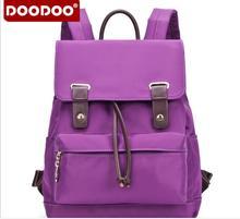Оригинал doodoo fr417 женщины рюкзаки девочек-подростков молодежи школьный студент сумка нейлон водонепроницаемый ноутбук рюкзак bolsa mujer