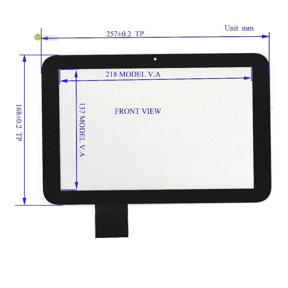 ZhiYuSun FT10104-FPC-A  257mm*168mm Capacitive touch sensor NEW 10 inch  For GPS Car DVD touch screen panel  Sensor glass ft v23 sensor mr li