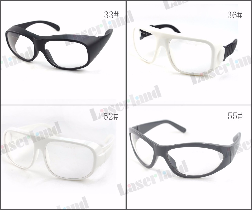Laserland LP-CHP-36 10600nm OD6+ CO2 Laser Protective Goggles Safety Glasses 36# CE co2 laser safety glasses ep co2 protection laser goggles safety glasses eyewear for 10600nm co2 od5