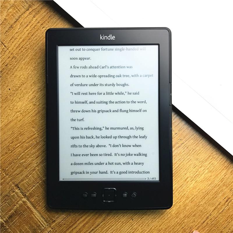 Bon marché Kindle 5 e-book e-ink affichage 6 pouces Ebook lecteur électronique e book gris Ereader 2 GB remis à neuf grand état
