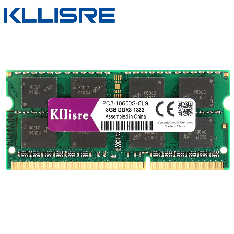 Kllisre sodimm ddr3 8gb 1600 and 1333 204-Pin laptop ram SO-DIMM Notebook Memory reboto ddr3 4gb 8gb1600mhz pc3l 12800s low voltage 1 35v ram memory laptop