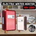 Универсальный Электрический водонагреватель мгновенный Tankless водонагреватель 3800 Вт ЖК-Цифровой температурный нагреватель для кухни ванно...