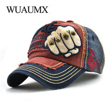 Wuaumx Baseball Caps For Men Women Curved Brim Trucker Cap Fist Rivets Sun Hat Summer Snapback Cappello Casquette
