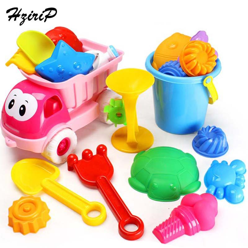 HziriP 20Pcs/sets Kids Sand Playing Tool Beach Toys Set Summer Plastic Outdoor Cute Car Tools For Children Learning Study Toys ...